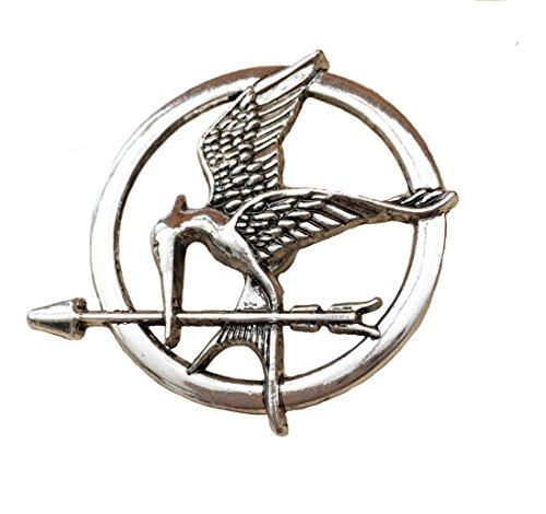 Hunger Games Katniss Mockingjay Siber ton Brosche / Pin