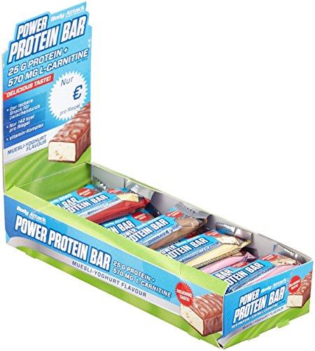 Body Attack Power Protein Bar, Mix-Box 24 x 35g, 1er Pack (1 x 0.84kg)