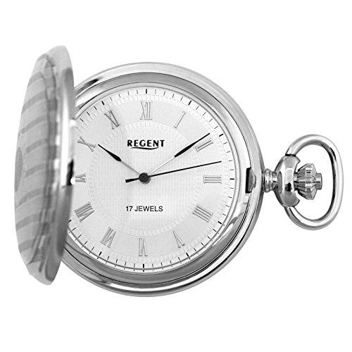 Regent-Taschenuhr-Mechanisch-Silber-Rmisch-P122