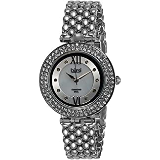 Burgi-Damen-Luxus-Analog-Display-Swiss-Quartz-Uhr-mit-Legierung-Armband