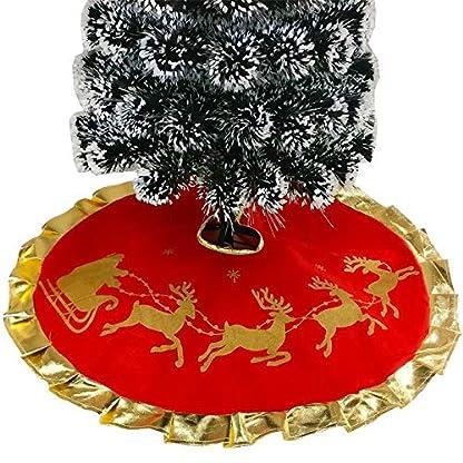 Lovemay-Weihnachtsbaum-Rock-Weihnachtsbaum-Decken-Rot-Rock-fr-Christbaumstnder-Weihnachtsdekoration-Neujahr-Party-Deko