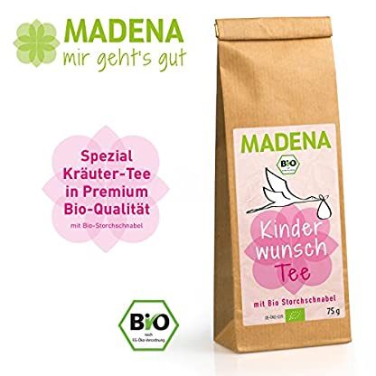 MADENA-Bio-Kinderwunschtee-fr-Frauen-Schwangerschaft-Mutterschaft-Untersttzender-Krutertee-mit-Bio-Storchschnabel