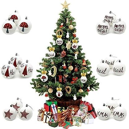 Eruditter-Weihnachtskugel-Wei-matt-Weihnachtskugel-Herz-Kugel-Christbaumkugeln-fr-den-Weihnachtsbaum-Dekoration-3pcs