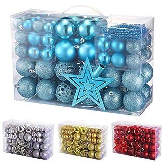 Yorbay-Weihnachtskugeln-Christbaumkugeln-Set-inklusive-Perlenkette-und-Baumspitze-in-Verschiedenen-Farben