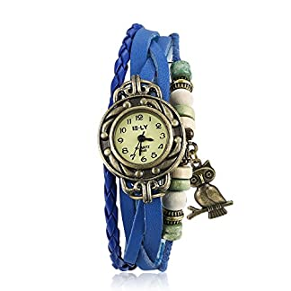 iLove-EU-Damen-Armbanduhr-Retro-Niedliche-Eule-Leder-Armkette-Armband-Analog-Quarz-Uhr-Watches-Blau