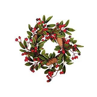 HELEVIA-Herbst-Deko-Kranz-Tr-mit-dekorierten-Rote-Frucht-Rattan-Herbstkranz-Trkranz-Weihnachtskranz-Wandschmuck-Dekoration-fr-Halloween-Thanksgiving-Weihnachten-40CM