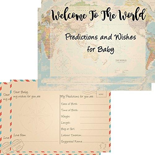 16-Baby-Prognosen-wishes-Karten-fr-Baby-Dusche-Spiele-Welcome-to-the-World