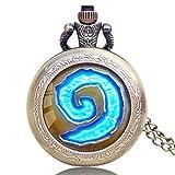Herren-Taschenuhr-Wow-World-of-Warcraft-Hot-Anhnger-Vintage-Retro-Taschenuhr-besonderes-Geschenk-fr-Herren