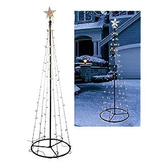 Beleuchteter-LED-Weihnachstbaum-in-Kegel-Form-Hhe-Lichter-warmwei-Deko-Baum-Tannenbaum-Auen
