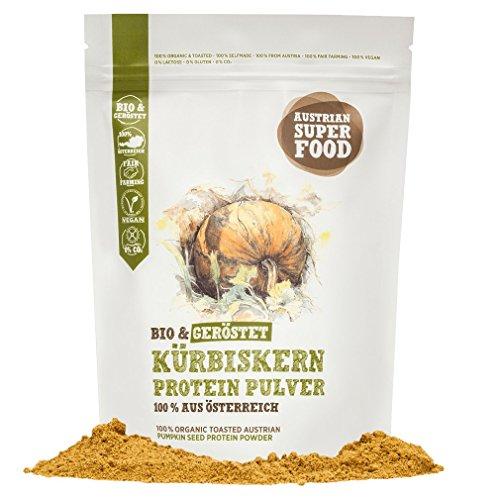 BIO Protein Eiweisspulver Kürbiskern geröstet, natürlicher Muskelaufbau mit 59% Proteine 350 gramm Superfood