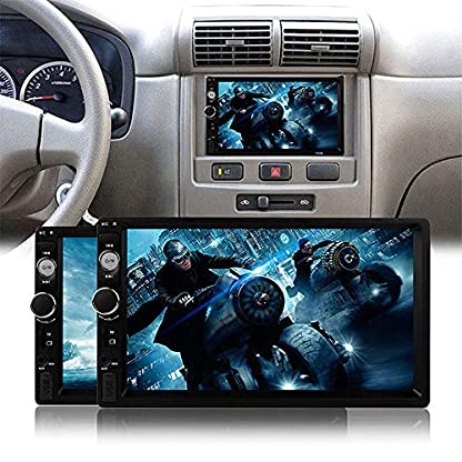 178-cm-Doppel-Din-Auto-Radio-Audio-Bluetooth-Touch-MP5-Player-USB-FM-Android-Telefon-Spiegel-Link-Entertainment-Multimedia-Stereo-4-LED-Mini-Rckfahrkamera-mit-Lenkradfernbedienung