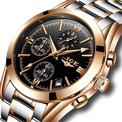 Herren-Schwarz-Chronograph-Uhren-Herren-Multifunktions-Datum-Kalender-Edelstahl-Armbanduhr-Luxus-Business-Fashion-Gents-Handgelenk-Uhren-Casual-Kleid-Wasserdicht-Analog-Quarz-Armbanduhr-fr-Herren