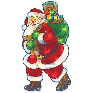 The-Benross-Christmas-Workshop-Nikolaus-Silhouette-LED-beleuchtet-Metallic-Silhouette