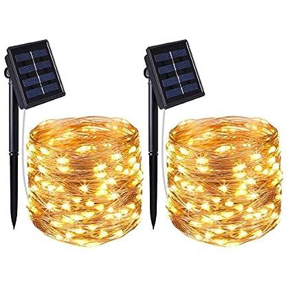 AMIR-Solar-Lichterkette-33ft-100-LED-Solar-Lichterkette-Weihnachten-Solar-Kupferdraht-Lichterketten-Garten-Auen-Warmwei-Solar-Beleuchtung-Kugel-fr-Party-Weihnachten-Halloween-Fest-Deko-usw
