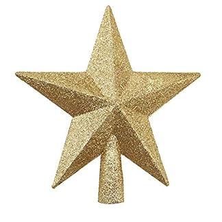 SLHP-Weihnachts-Baumspitze-Stern-Christmas-Tree-Top-Star-Weihnachtsdekoration-Christbaumspitze-Stern-Weihnachtsbaum-Kunststoff-Stern-Deko