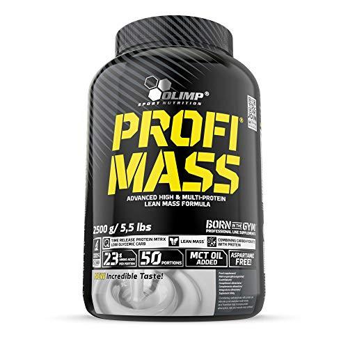 Olimp Profi Mass | Weight Gainer mit Kohlenhydrate, Whey Eiweißmischung Pulver, Vitaminen, Taurin und Glutamin | Schokolade Geschmack | 2,5 kg