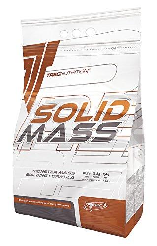 Trec Nutrition Solid Mass Gainer Kohlenhydrate Masseaufbau Muskelaufbau Muskelaufbau Bodybuilding (3000g Choco – Schokolade)