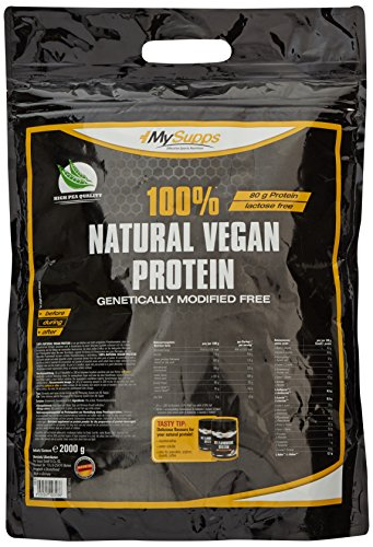 My Supps 100% Natural Vegan Protein, 1er Pack (1 x 2 kg)