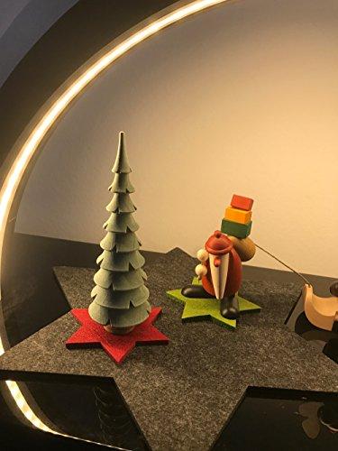 Oblique-Unique® Filzuntersetzer Sterne 4er Pack für Tisch und Deko – Weihnachten (Weinrot)
