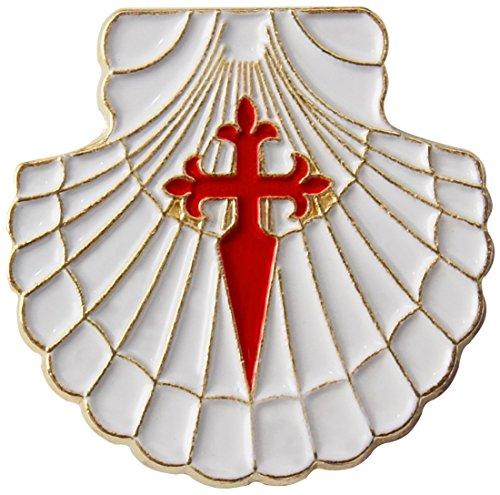 Pin Jakobsmuschel mit Jakobskreuz