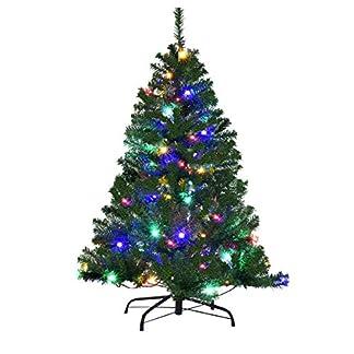 COSTWAY-Weihnachtsbaum-Knstlicher-Tannenbaum-mit-LED-Lichterketten-Christbaum-beleuchtet-120150180210240270cm-Grn