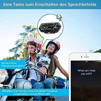 Bluerider-Motorrad-Intercom-Helm-Headset-Gegensprechanlage-Bluetooth-41-bis-zu-8-Reiters-CVC-Rauschunterdrckung-Wasserdicht-Vollduplex-10-Std-Sprechzeit-2KM-Reichweite-fr-Siri-Google-Assistant