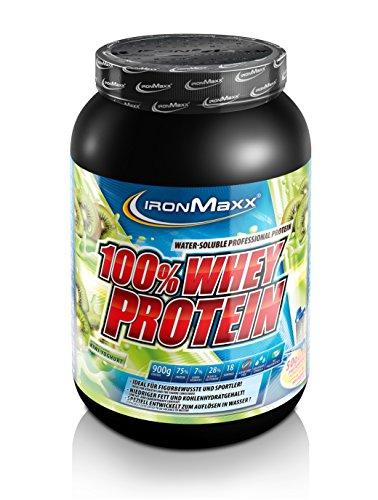 IronMaxx 100% Whey Proteinpulver / Wasserlösliches Whey Protein für Eiweißshake / Proteinshake mit Kiwi-Joghurt Geschmack / 1 x 900 g Dose