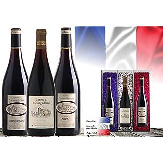 Luxus-Wein-Geschenk-Frankreich-Vintage-France-3er-Set-Syrah-Cabernet-Sauvignon-Cuve-Das-Luxusgeschenk-fr-Wein-Freunde-Kenner-limitierte-Edition-mit-Geschenkkarte-45-Jahre-alte-Reben