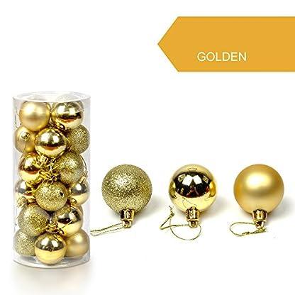 AMUSTER-24-Weihnachtskugeln-Baumschmuck-Weihnachten-Deko-Anhnger-modisch-Glnzend-Bruchsiche-Weihnachtskugeln-Winter-Wnsche-Weihnachten