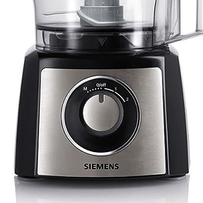 Siemens-MK3501M-Kchenmaschine-800-W-23-l-Edelstahlrhrschssel-Mixeraufsatz-Universalzerkleinerer-schwarzedelstahl-gebrstet