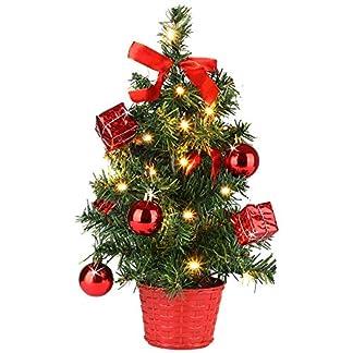 Casaria-Weihnachtsbaum-36cm-knstlicher-Tannenbaum-Mini-LED-Lichterkette-Christbaum-Baum-Tanne-Weihnachten-Stnder