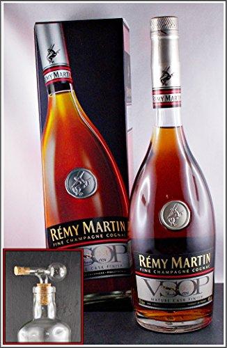 Cognac-Remy-Martin-VSOP-Mature-Cask-Finish-mit-einem-Flaschenportionierer-aus-Echtglas-mit-Naturkorkaufsatz-kostenloser-Versand