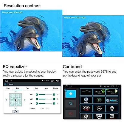 1Din-Autoradio-amkle-Autoradio-Bluetooth-7Zoll-Android-60-Touchscreen-GPS-Navigator-Radio-FMAMMP3SDUSBMP5-Stereo-Video-Lenkradsteuerung-Media-Receiver-Rckfahrkamera-Freisprechen