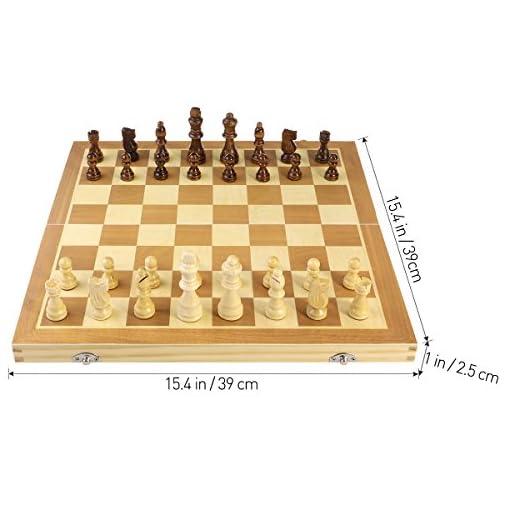 BESTOYARD-aufklappbares-Schachspiel-aus-Holz-mit-Magnetischen-Schachfiguren-Schachbrett-39-x-39-cm