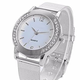 SUNNSEAN-UhrMode-Frauen-Kristallsilber-Edelstahl-Analoge-Quarz-Armbanduhr-DIAMANT-Armbanduhr-Damen-Elegant-Mode-Klassisch-Einfach-Uhren