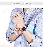 Frauen-Uhr-Frau-fashion-Luxus-Handgelenk-Uhren-fr-Damen-Kleid-Business-Casual-Wasserdicht-Quarz-Armbanduhr-fr-Frau-mit-Rose-Gold-Edelstahl-Mesh-Band-und-Blau-Sub-Zifferblatt