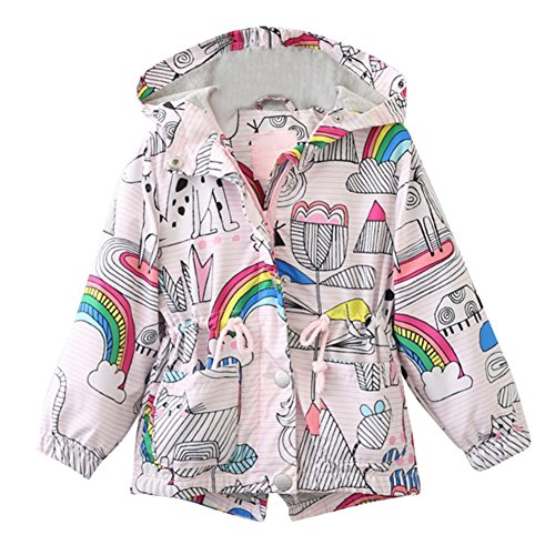 Kind Mädchen Blumen Mantel Jacke Kinder Tasche Windbreaker 100-140cm