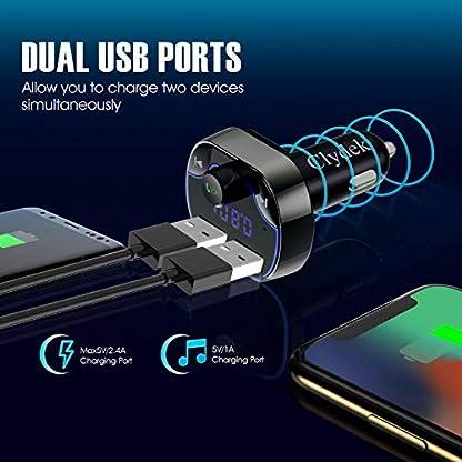Aktualisierte-VersionClydek-FM-Transmitter-fr-Auto-Bluetooth-50-Autoradio-Audio-Adapter-mit-Dual-USB-Ladebuchse-MP3-Player-Autoladegert-Untersttzt-Freisprecheinrichtung-USB-Stick-SD-Karte