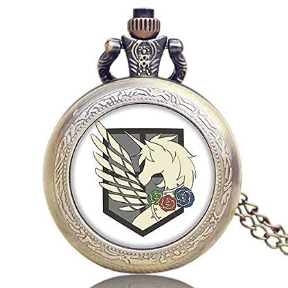 Attack-on-Titan-Three-Corps-Flag-Taschenuhren-fr-Herren-Halskette-Quarz-Taschenuhr