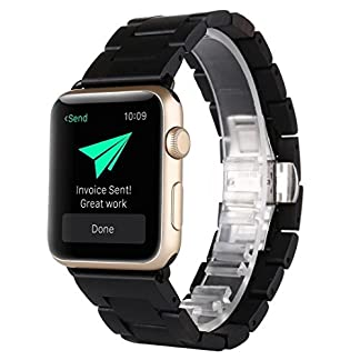 Apple-Watch-Armband-42MM-AIYIBEN-Natur-Holz-Replacement-Wrist-Band-mit-Adapter-Uhrenarmband-fr-Apple-iWatch-Alle-Modelle