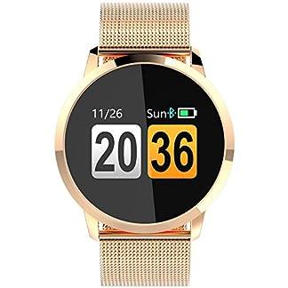 Findtime-Unisex-Digital-Quarz-Smartwatch-Fitness-Tracker-Edelstahl-Armband-Herzfrequenz