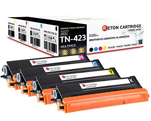 4-Original-Reton-Toner-30-hhere-Druckleistung-kompatibel-zu-TN-423-fr-Brother-DCP-L8410CDW-HL-L8260CDW-HL-L8360CDW-MFC-L8690CDW-MFC-L8900CDW-Geprft-nach-ISO-Norm-19798