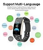 Fitness-Tracker-Smartwatch-fr-iOS-Android-VNEIRW-T20-Farbdisplay-Wasserdichtes-Sportuhren-Intelligente-mit-WasserdichtSchrittzhlerHerzfrequenz-berwachung-Bildschirm096-inch-Schwarz