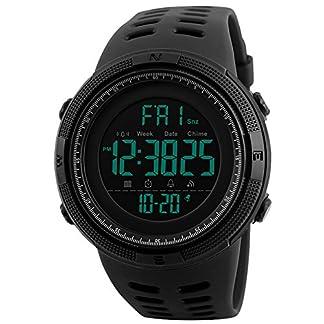 Herren-Jugendliche-Jungen-Multifunktions-Digital-Sportuhr-Mnner-Groes-Gesicht-50M-Wasserdicht-Countdown-Elektronisch-Militr-LED-Digital-Uhr-mit-Stoppuhr-Mnnlich-Armee-Stofest-Armbanduhr-Schwarz