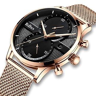 Herren-Schwarz-Chronograph-Uhren-Herren-wasserdicht-Luxus-Kleid-Fashion-Datum-Kalender-Edelstahl-Mesh-Armbanduhr-Gents-Multifunktional-Casual-Design-Analog-Quarz-Armbanduhr-fr-Herren-Ros