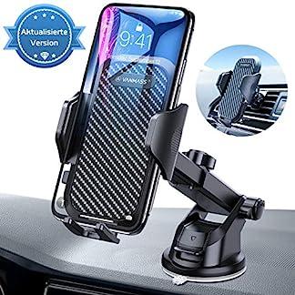 VANMASS-Handyhalter-frs-Auto-Handyhalterung-3-in-1-Kfz-Handy-Halterung-mit-Lftungs-Saugnapfshalter-Gummipad-Smartphone-Handy-Halter-fr-iPhone-Samsung-Galaxy-Huawei-Mate-LG-Aktualisierte-Version