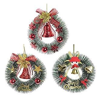 arthomer-Weihnachten-Weihnachtsdeko-Trkranz-Kranz-Dekokranz-Weihnachten-Girlande-Kegel-Blumen-Hngend-Gift-Box-Glocke-Dekorative-Garland-2820-16CM