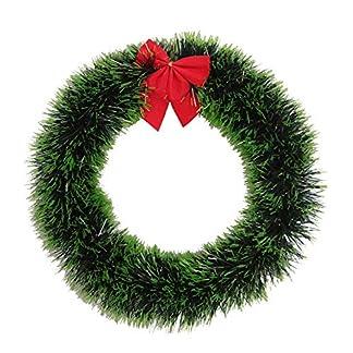 ZXPAG-Trkranz-Adventskranz-Dekokranz-Hngende-Tr-Krapp-Weier-Rand-Grner-Rand-Bogen-PVC-fr-Deko-Weihnachten-Advent-Trkranz