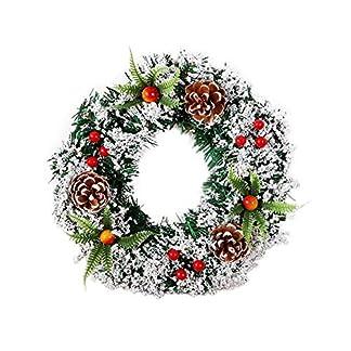 2xWeihnachtskranz-Weihnachten-Deko-Kranz-Tr-Hngen-Wandkranz-Weihnachten-Knstliche-Girlande-Fr-Weihnachtsschmuck-Tr-Wand-Hotel-Dekoration-Weihnachts-Anhnger