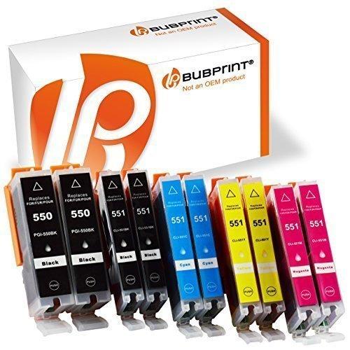 Bubprint-10-Druckerpatronen-kompatibel-fr-Canon-PGI-550-XL-550XL-BK-CLI-551-551XL-fr-Pixma-IP7250-IP8750-IX6850-MG6450-MG7550-MX920-MX925-Multipack